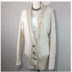 Free People Textured Chunky Boyfriend Cardigan